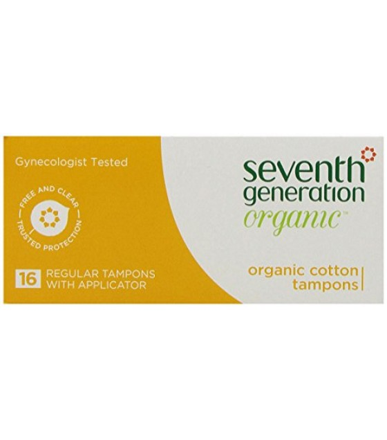 [Seventh Generation] Feminine Hygiene Products Tampons, Regular, Applicator