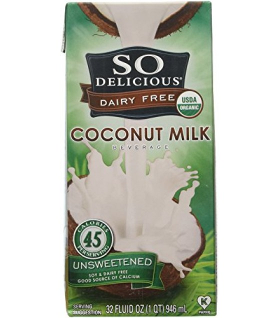 [So Delicious] Coconut Milk Beverage Unsweetened  At least 95% Organic