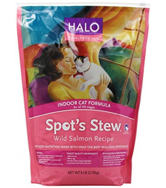 [Halo] Spots Stew - Dry Cat Food Wild Salmon, Indoor Cat