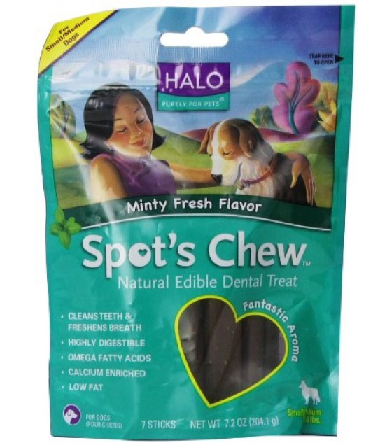 [Halo] Spots Chew Dental Treats Mint, Dog