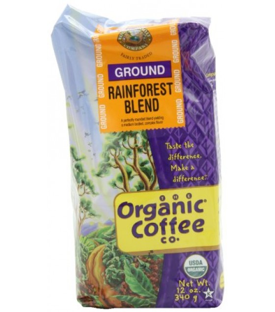 [Organic Coffee Co.] Premium Roast Coffee Beans Organic Grnd Rainforest  At least 95% Organic