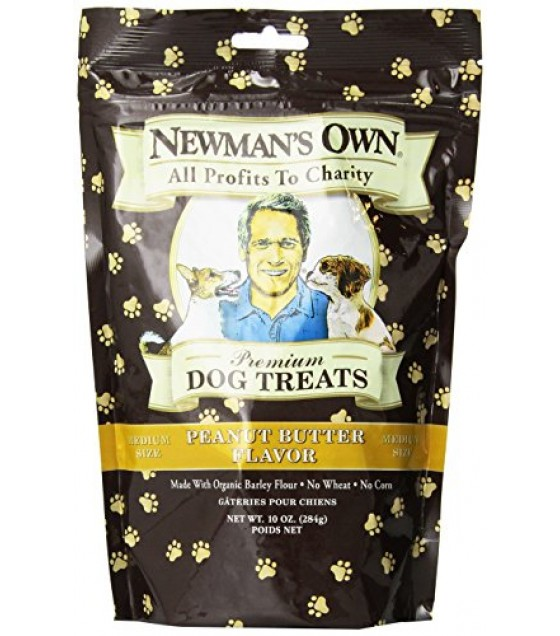 [Newman`S Own Organics] Dog Treats Peanut Butter, Medium  At least 70% Organic