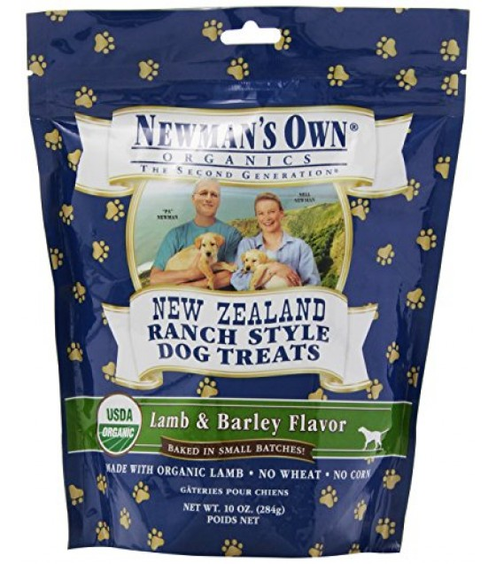 [Newman`S Own Organics] Dog Treats NZ Ranch Style Lamb & Barley  At least 95% Organic