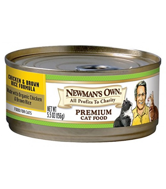 [Newman`S Own Organics] Cat Food Chicken Brown Rice, Canned  At least 70% Organic
