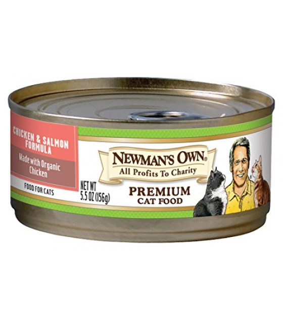 [Newman`S Own Organics] Cat Food Chicken Salmon, Canned  At least 70% Organic