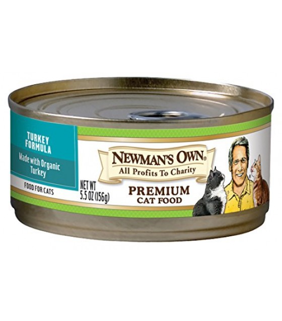 [Newman`S Own Organics] Cat Food Turkey, Canned  At least 70% Organic
