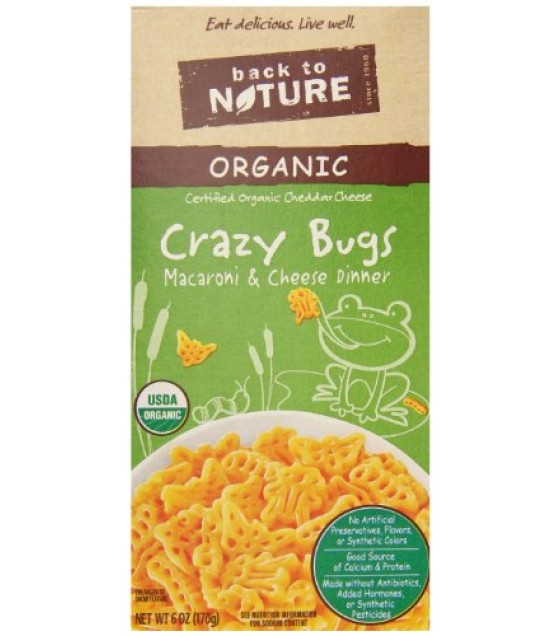 [Back To Nature] Macaroni & Cheese Crazy Bugs  At least 95% Organic