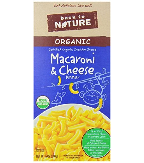 [Back To Nature] Organic Macaroni & Cheese With Cheddar  At least 95% Organic