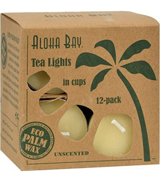 [aloha Bay] Cndl,gls Tea Light,cream