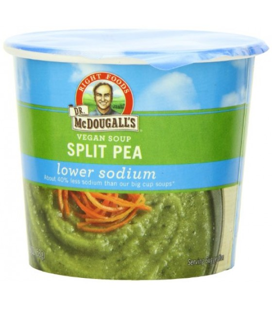 [Dr. Mcdougall`S] Light Sodium Soup Cups Split Pea, Gluten Free