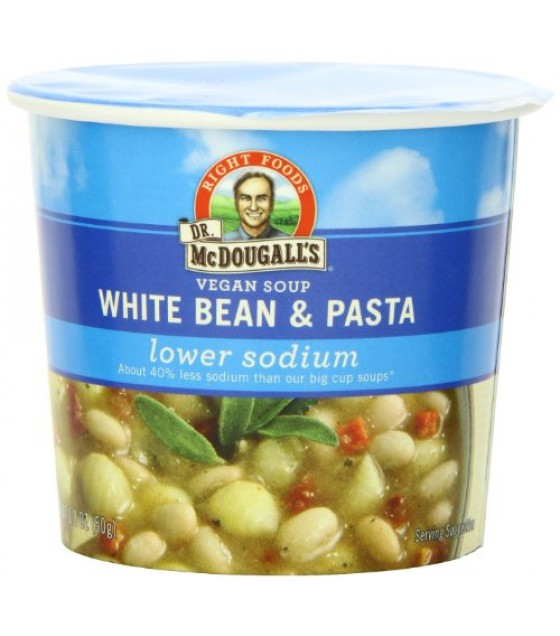[Dr. Mcdougall`S] Light Sodium Soup Cups White Bean & Pasta