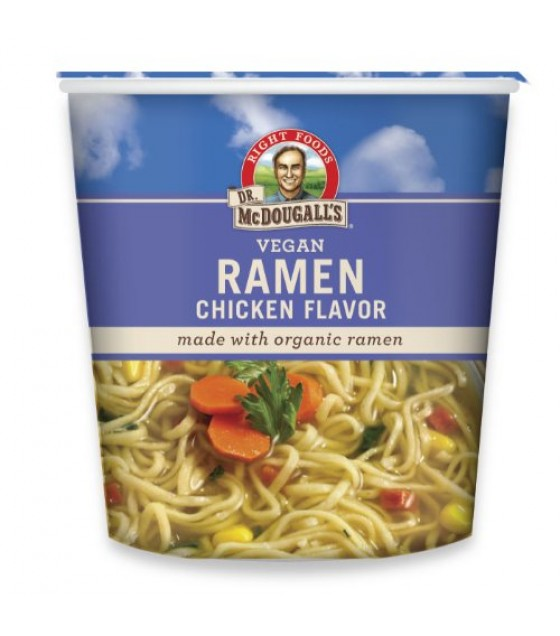 [Dr. Mcdougall`S] Big Cup Soups Ramen Chicken Flavored  At least 70% Organic