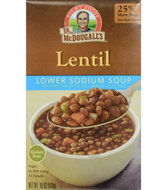 [Dr. Mcdougall`S] Ready To Serve Aseptic Soups Lentil, Light Sodium
