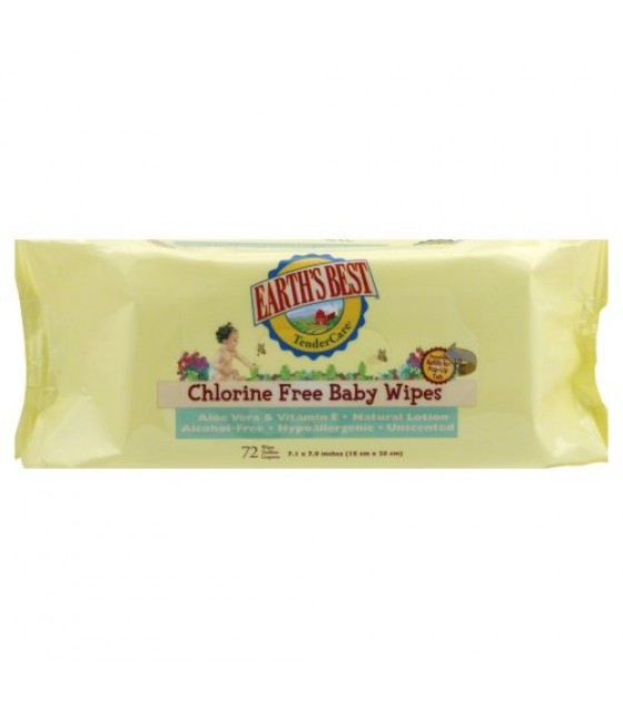 [Earth`S Best] Tender Care Wipes, 72 Ct, Refill