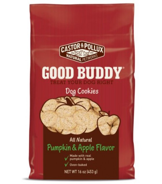 [Castor & Pollux] Good Buddy Dog Cookie, Pumpkin & Apple