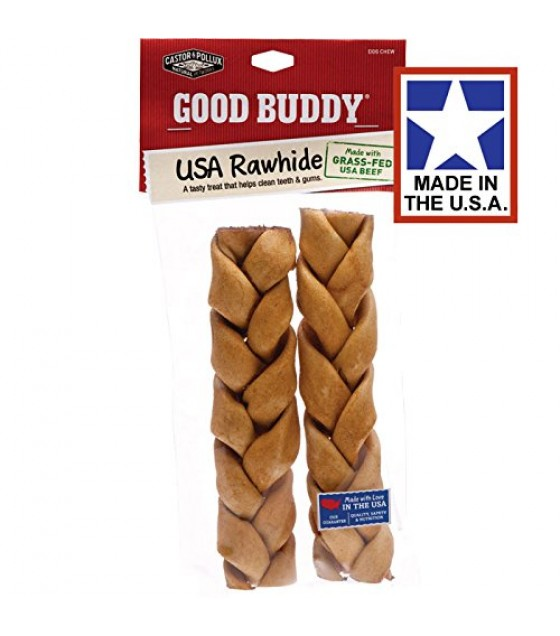 [Castor & Pollux] Good Buddy Rawhide Braided Sticks 7-8