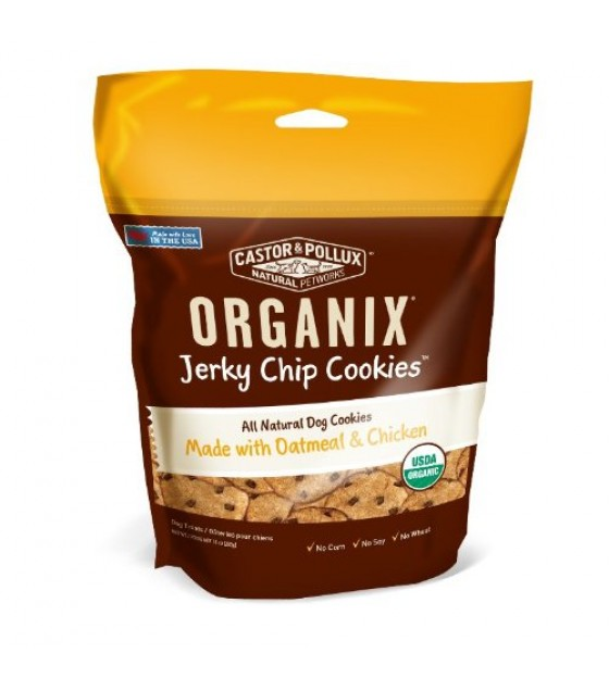 [Castor & Pollux] Jerky Chip Cookies Organix, Oatmeal & Chicken  At least 95% Organic