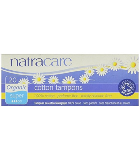 [Natracare] Organic Non-Applicator Tampons Super