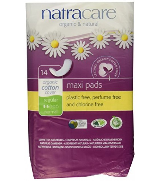 [Natracare] Feminine Hygiene Products Cool Comfort Pads, Regular