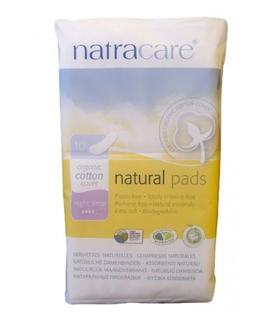 [Natracare] Feminine Hygiene Products Cool Comfort Pads, Night Time