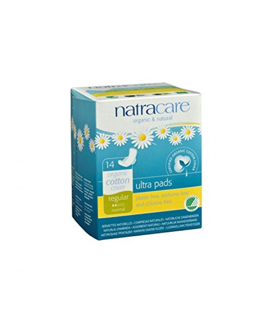 [Natracare] Feminine Hygiene Products Ultra Pad w/Wings, Regular