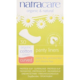 [Natracare] Feminine Hygiene Products Panty Shields, Curved
