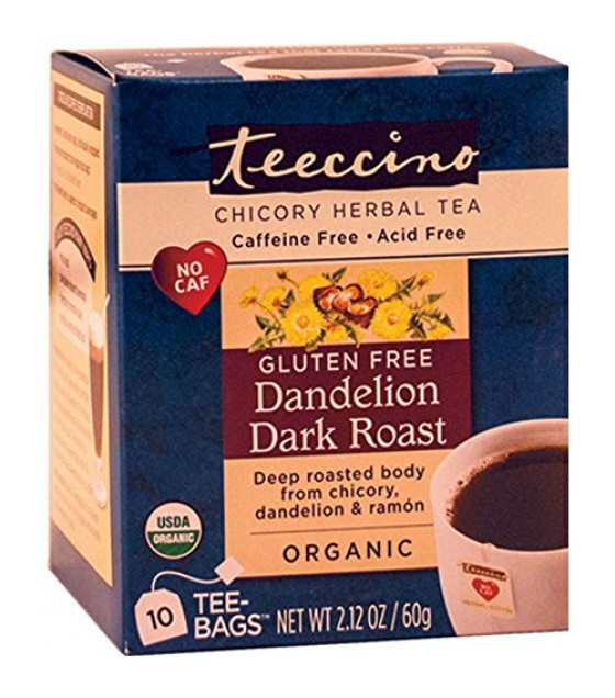 [Teeccino] Chicory Herbal Tea Dandelion Dark Roast  At least 95% Organic