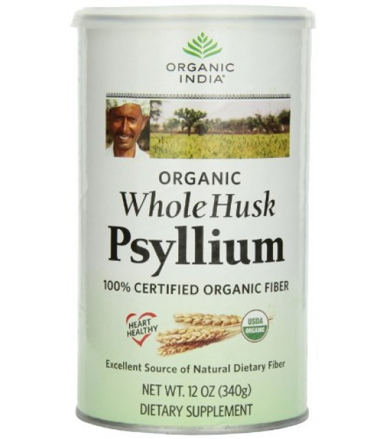 [Organic India]  Psyllium, Whole Husk  At least 95% Organic