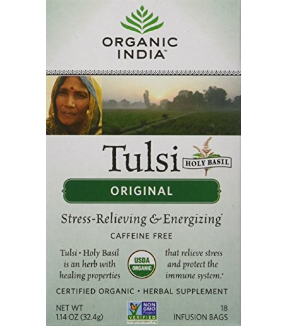 [Organic India] Tulsi Teas - Bags Original  At least 95% Organic