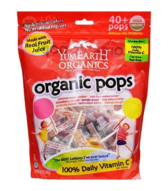 [Yumearth Organics] Lollipops Assorted Flavors  At least 95% Organic