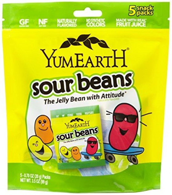 [yumearth Organics] Jelly Beans; Sour & Natural