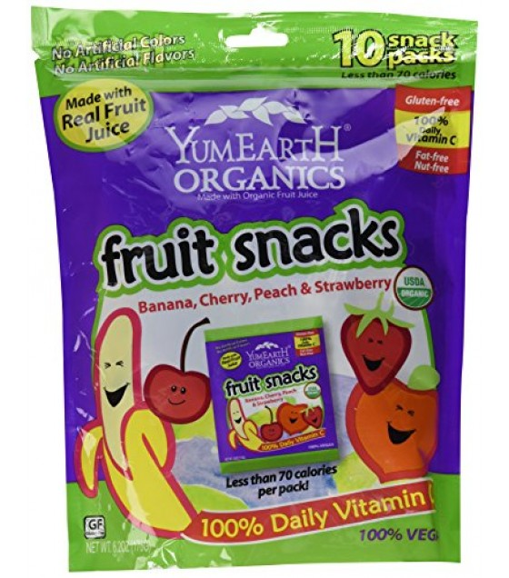 [Yumearth]  Fruit Snacks, Family Size  At least 95% Organic