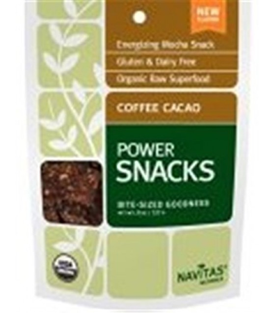 [Navitas Naturals] Bite-Sized Goodness Power Snacks, Coffee Cacao  At least 95% Organic