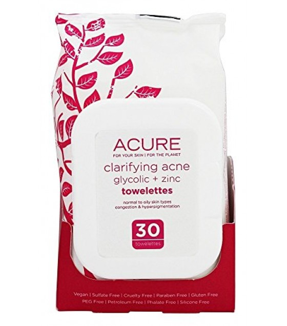 [acure] Towelettes,clarifyng Acne