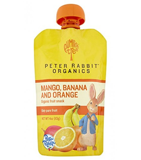 [Peter Rabbit Organics] Fruit Snacks Mango Banana & Orange  At least 95% Organic
