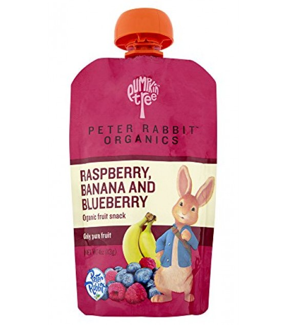 [Peter Rabbit Organics] Fruit Snacks Raspberry/Blueberry/Banana  At least 95% Organic