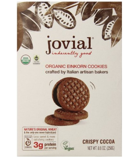 [Jovial] Einkorn Cookies Crispy Cocoa  At least 95% Organic