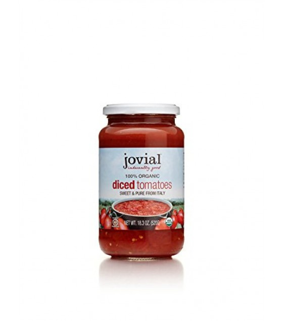 [Jovial] Jarred Vegetables Tomatoes, Diced  100% Organic