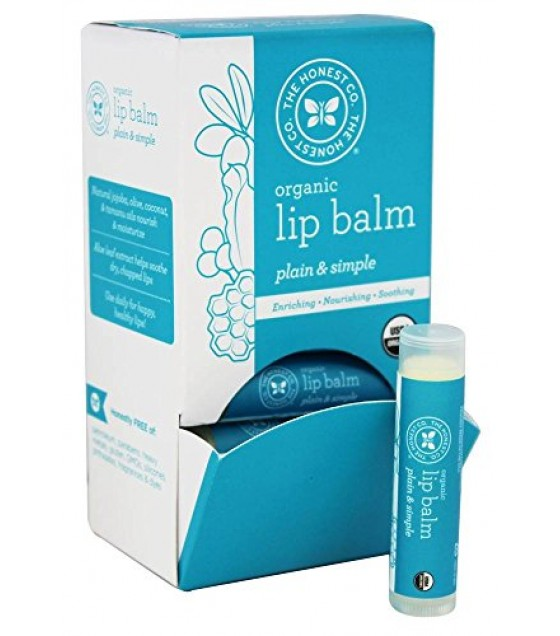 [The Honest Co]  Lip Balm Gravity, Plain & Simple  At least 95% Organic