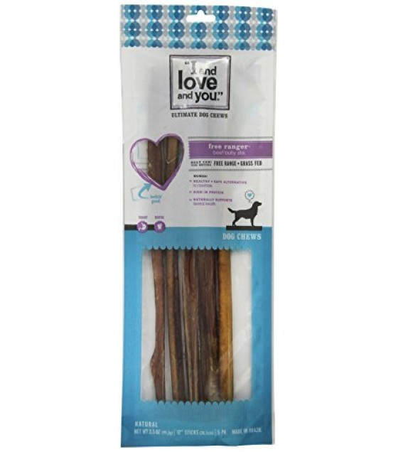 [I And Love And You] Dog Chews Free Ranger Stix 12inch