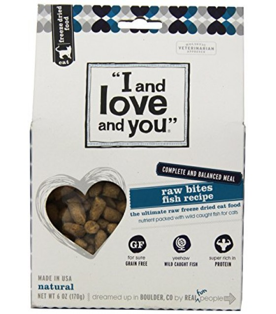 [I And Love And You] Cat Dehydrated-Raw Bites Fish