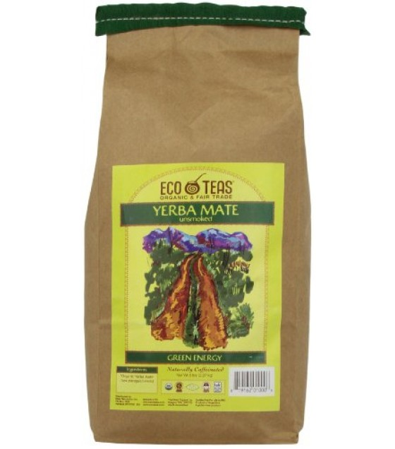 [Eco Teas] Tea, Loose Yerba Mate, Pure Leaf Unsmkd FT  100% Organic