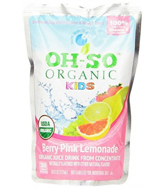 [Oh-So Organic Kids] Kids Organic Juice Drink Berry Pink Lemonade  At least 95% Organic