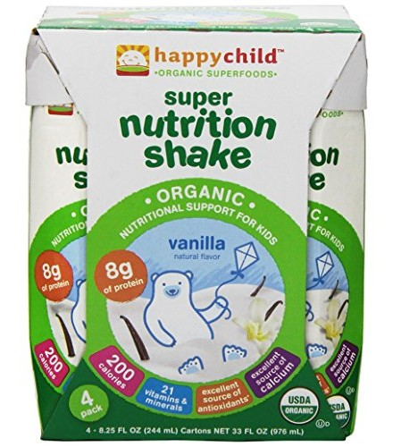 [Happy Child]  Super Nutrition Shake Vanilla  At least 95% Organic