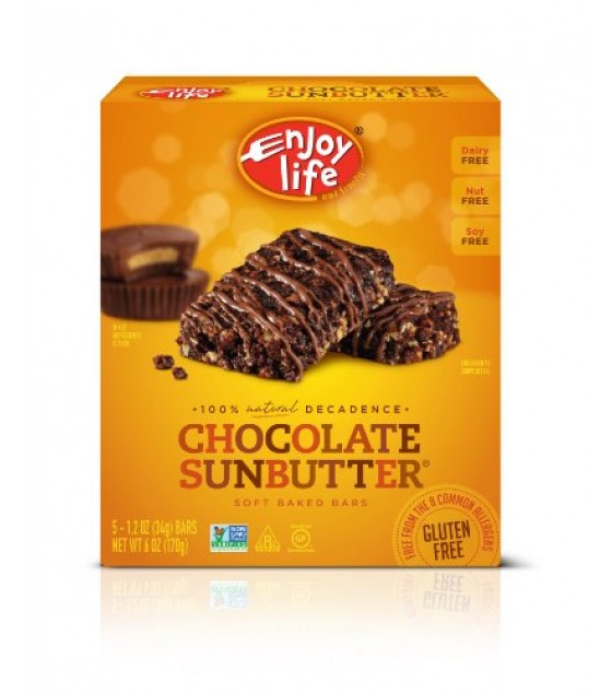 [Enjoy Life] Snack Bars Decadent, Chocolate Sunbutter