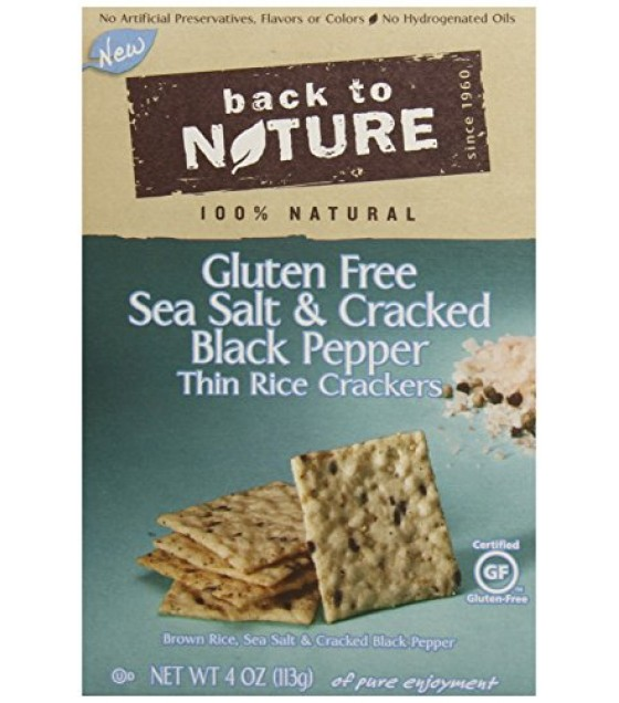 [Back To Nature] Crackers Rice Thins, Sea Salt/Crckd Pepper