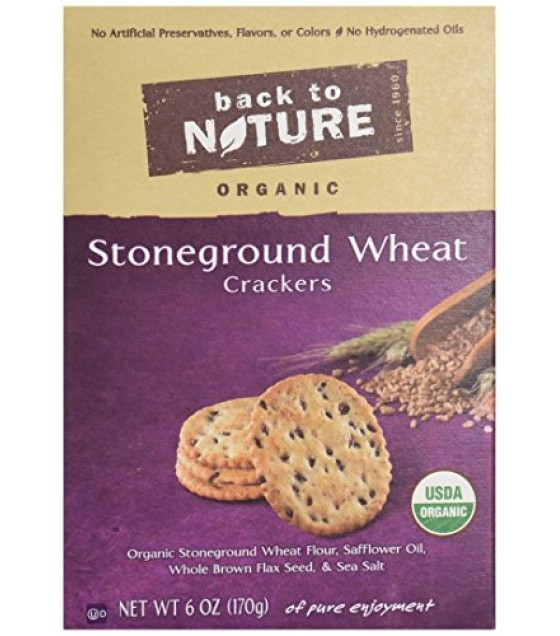 [Back To Nature] Crackers Stoneground Wheats  At least 95% Organic