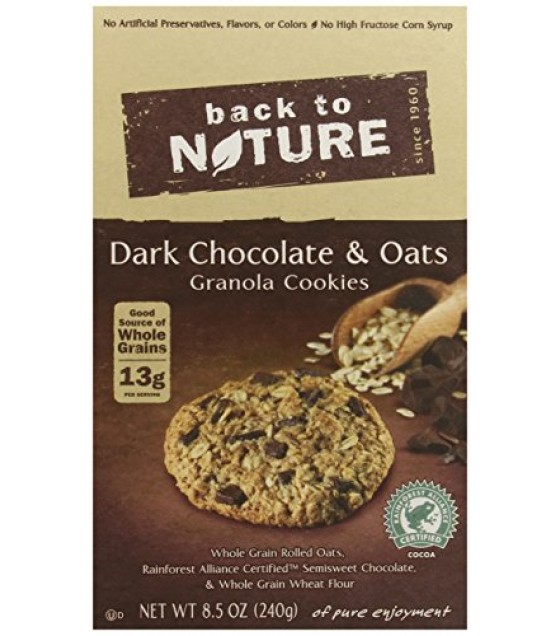 [Back To Nature] Cookies Granola, Dark Chocolate & Oat