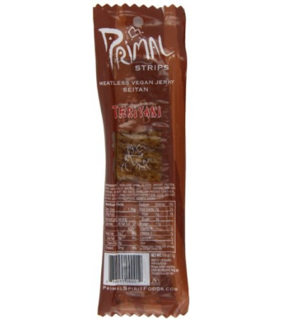 [Primal Spirit Foods] Meatless Jerky Seitan Teriyaki Bar