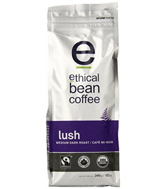 [Ethical Bean Coffee] Bean Coffee Lush, Medium Dark Roast  At least 95% Organic